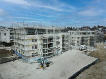 Erstbezug: 3‑Zimmer-Obergeschosswohnung mit moderner Einbauküche und Balkon, 88045 Friedrichshafen, Etagenwohnung